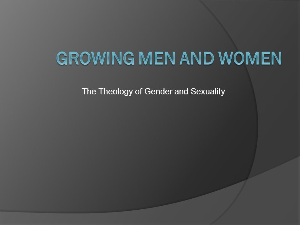 The Theology of Gender and Sexuality
