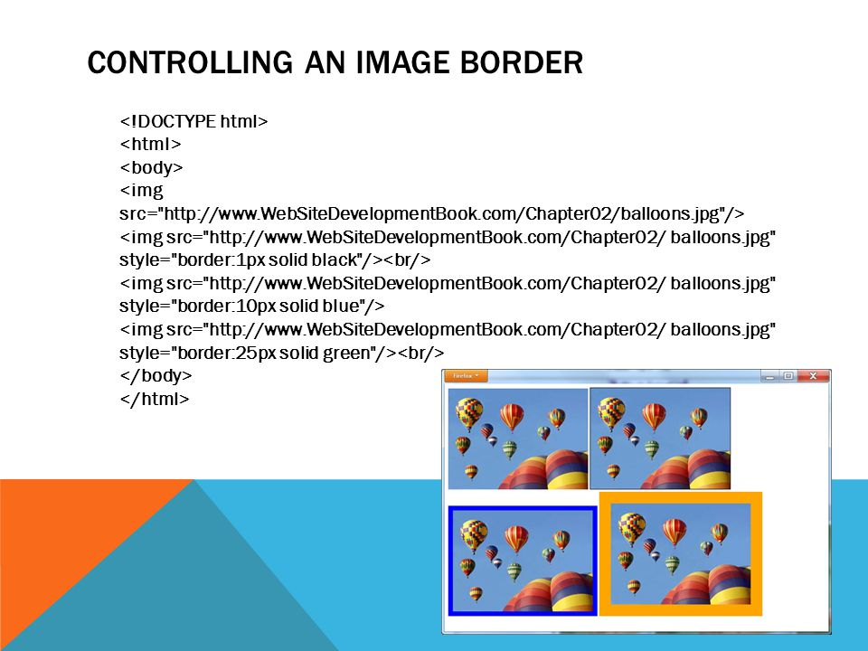 CONTROLLING AN IMAGE BORDER