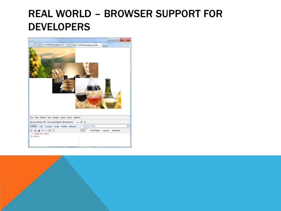REAL WORLD – BROWSER SUPPORT FOR DEVELOPERS