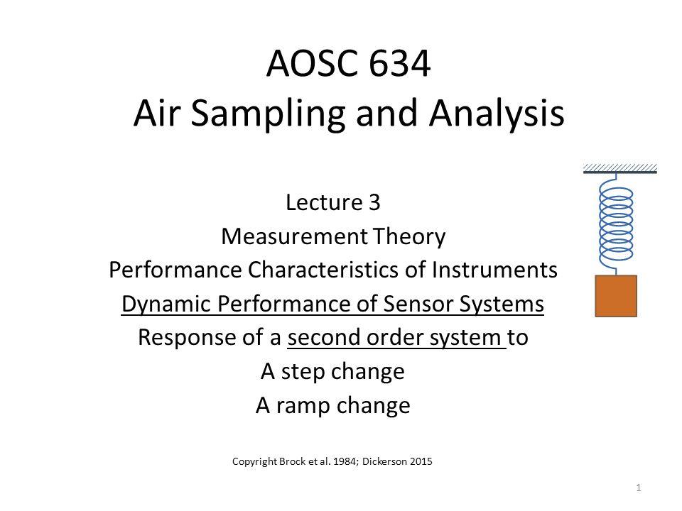 Dynamic Response Sensor output in response to changing input.