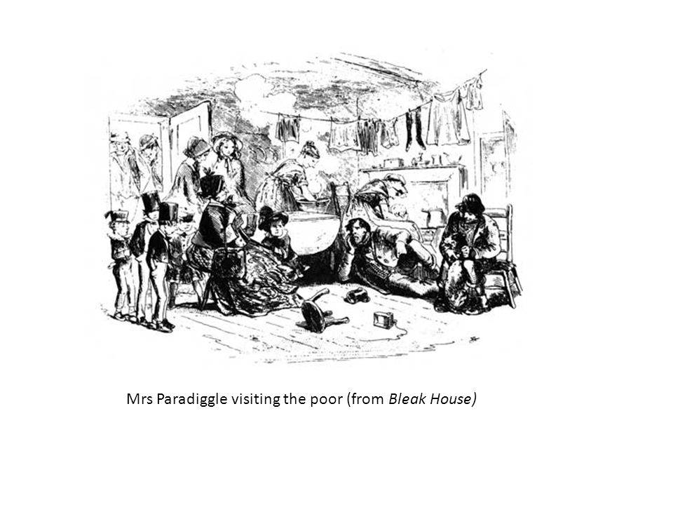 Mrs Paradiggle visiting the poor (from Bleak House)