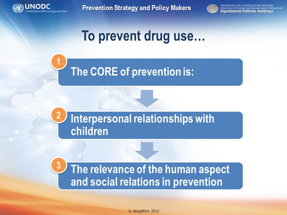 Prevention Strategy and Policy Makers G.