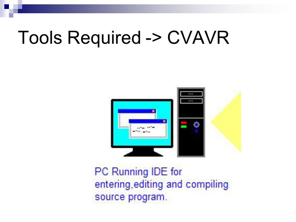 Tools Required -> CVAVR