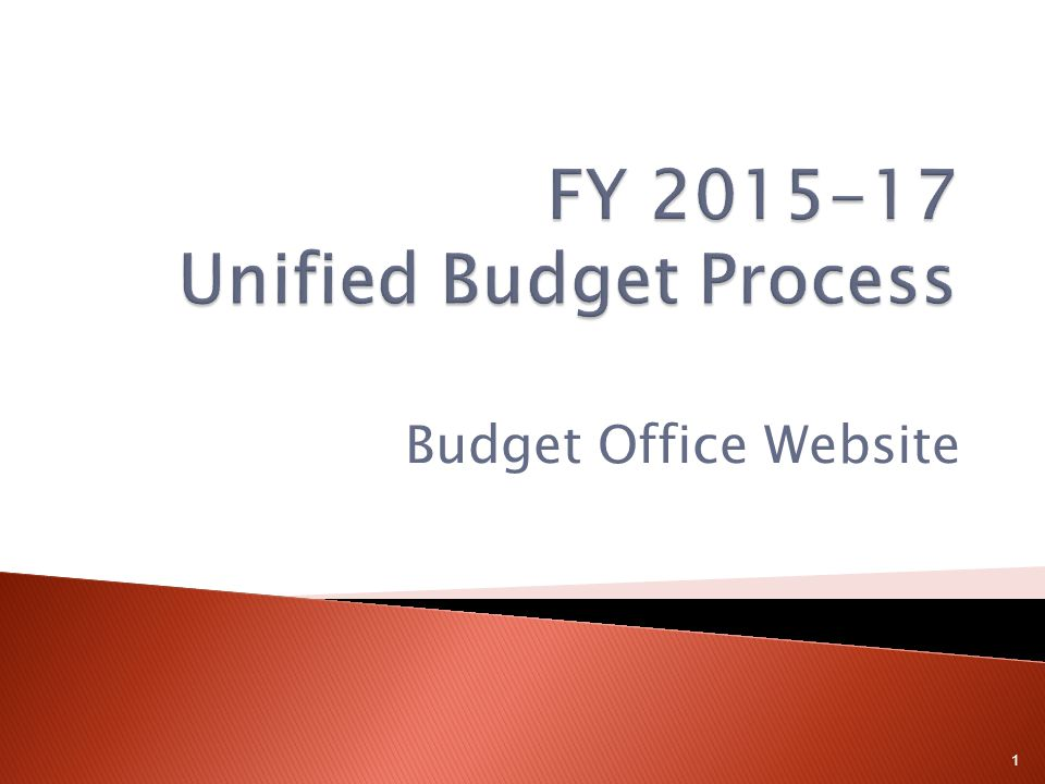 Budget Office Website 1