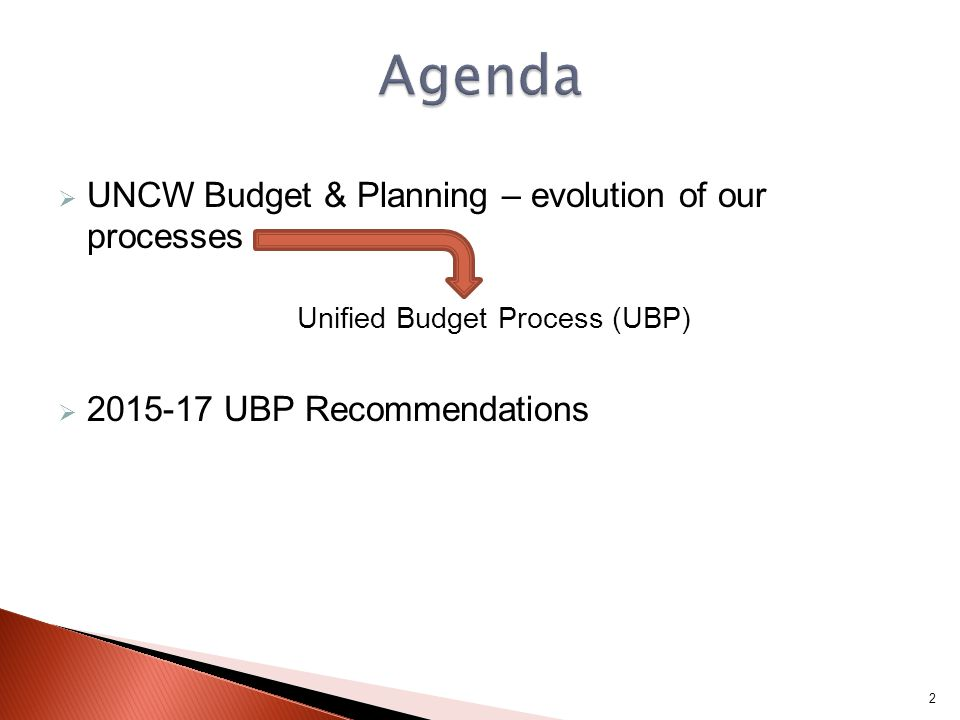  Funding decisions made throughout the UBP feed into one, or more, of these budget cycles 33