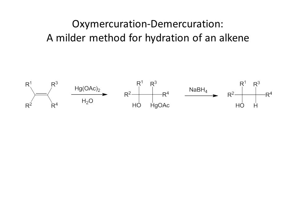 Oxymercuration-Demercuration: A milder method for hydration of an alkene
