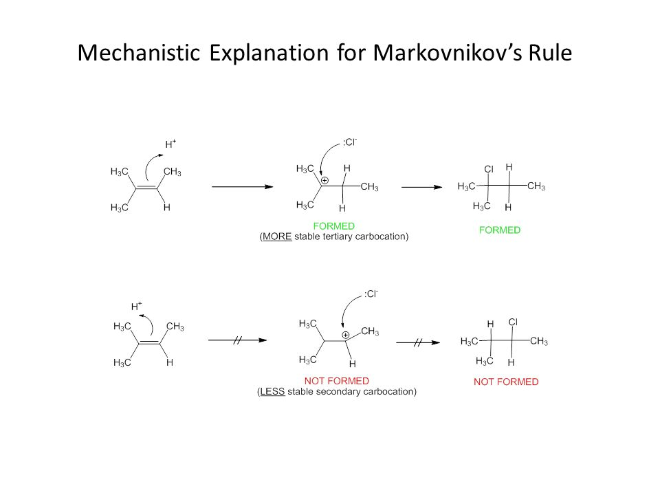 Mechanistic Explanation for Markovnikov's Rule