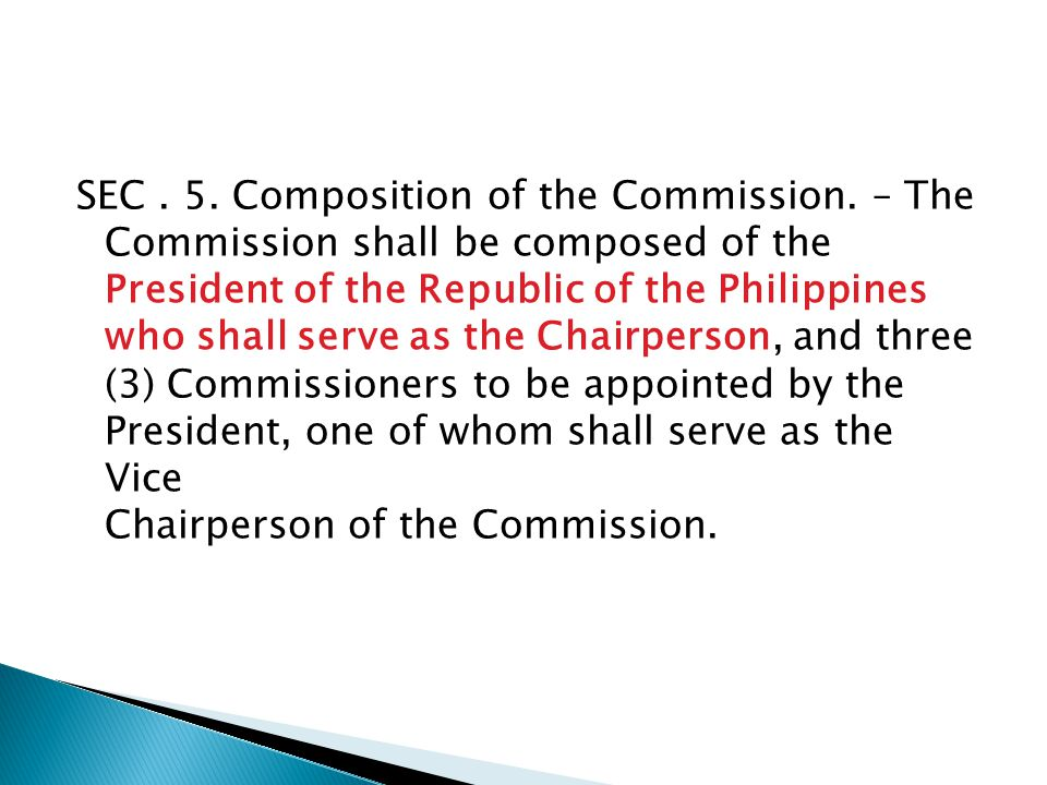 SEC. 5. Composition of the Commission.