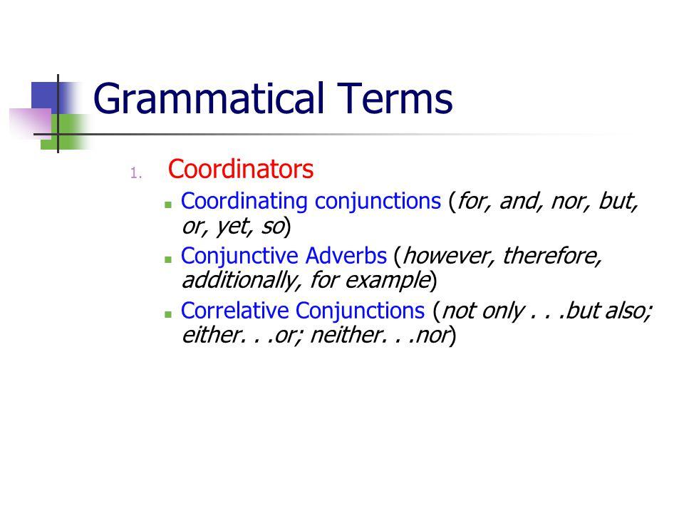 Grammatical Terms 1.