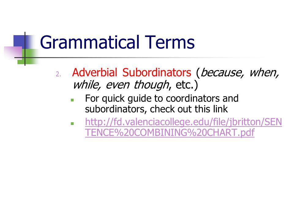 Grammatical Terms 2.