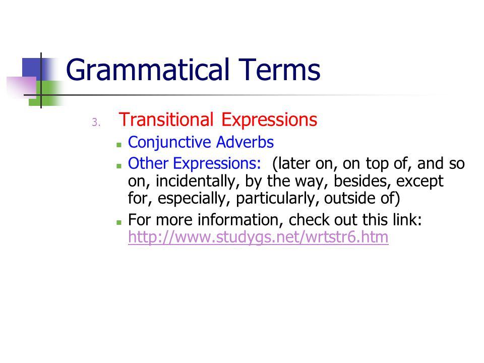 Grammatical Terms 3.