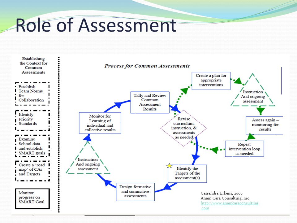 Role of Assessment Cassandra Erkens, 2008 Anam Cara Consulting, Inc http://www.anamcaraconsulting.com