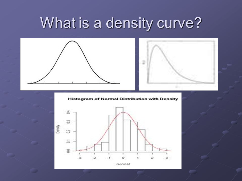 What is a density curve