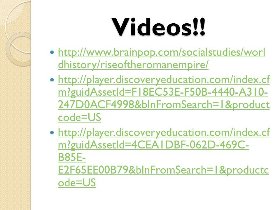 Videos!.