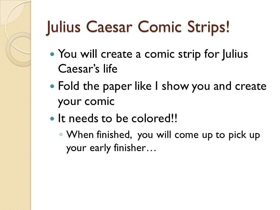 Julius Caesar Comic Strips.
