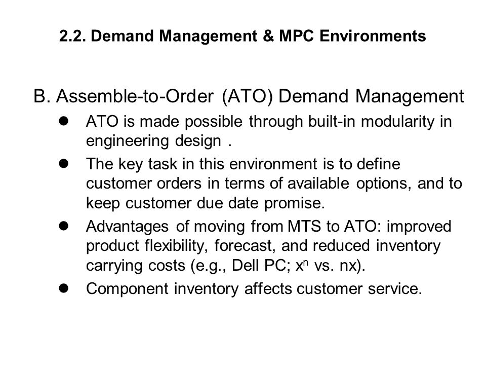 2.2. Demand Management & MPC Environments B.