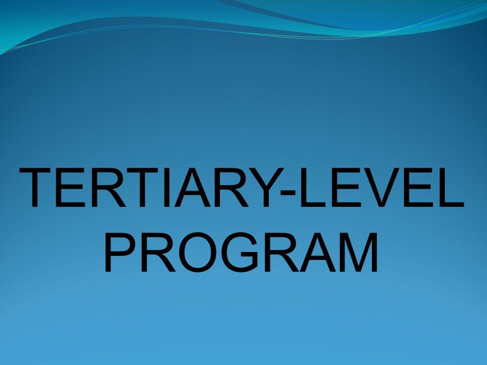 TERTIARY-LEVEL PROGRAM