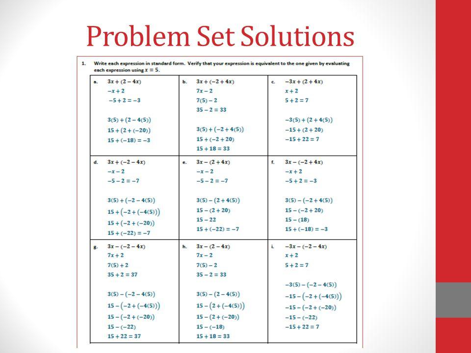 Problem Set Solutions