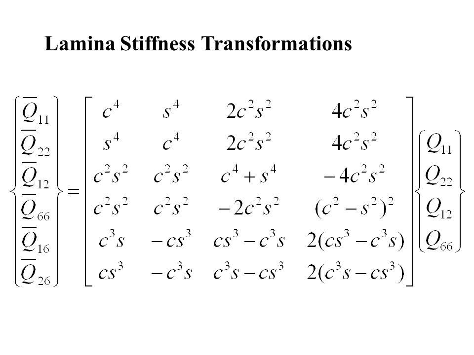 Lamina Stiffness Transformations