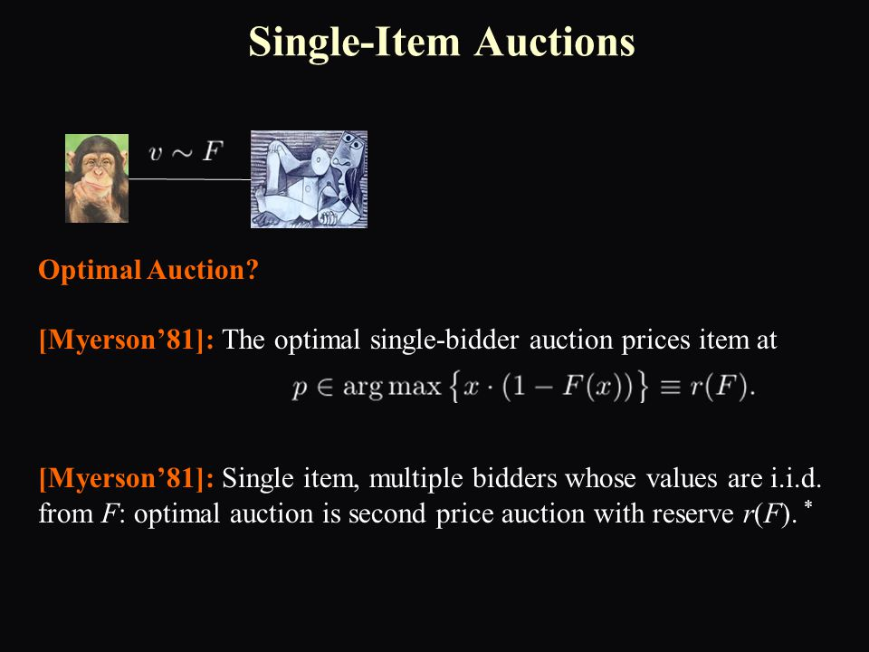 Single-Item Auctions Optimal Auction.