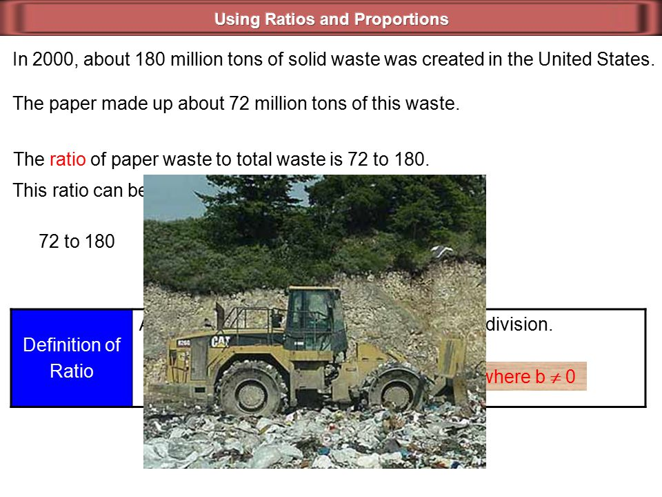 In 2000, about 180 million tons of solid waste was created in the United States.