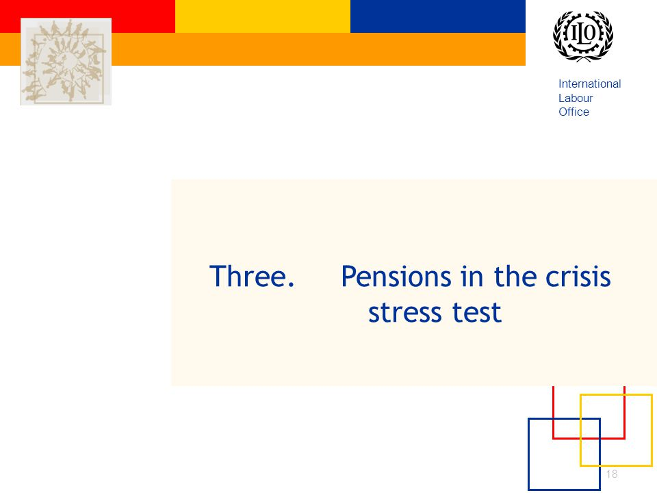 International Labour Office 18 Three. Pensions in the crisis stress test