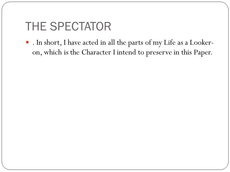 THE SPECTATOR.