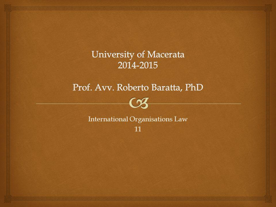 International Organisations Law 11