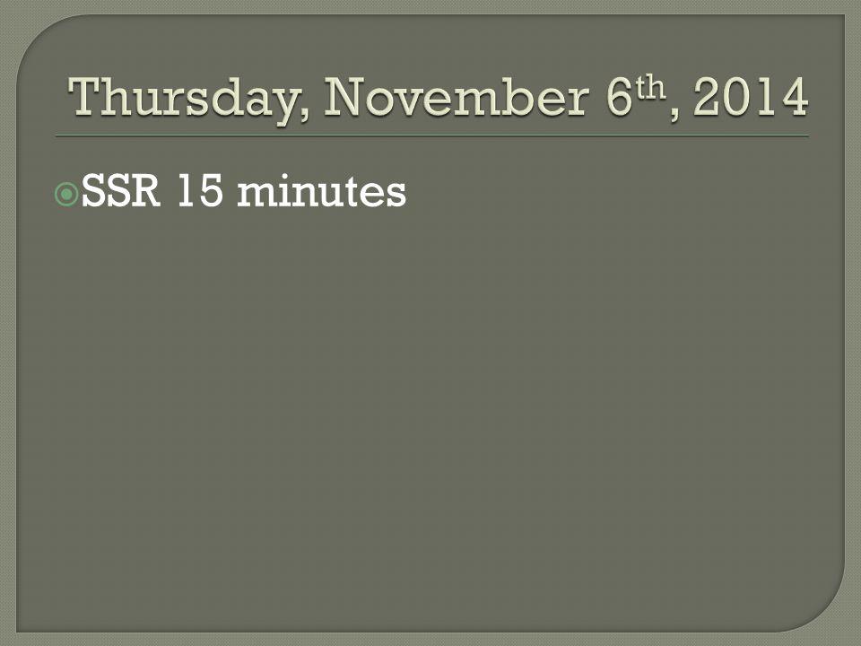  SSR 15 minutes