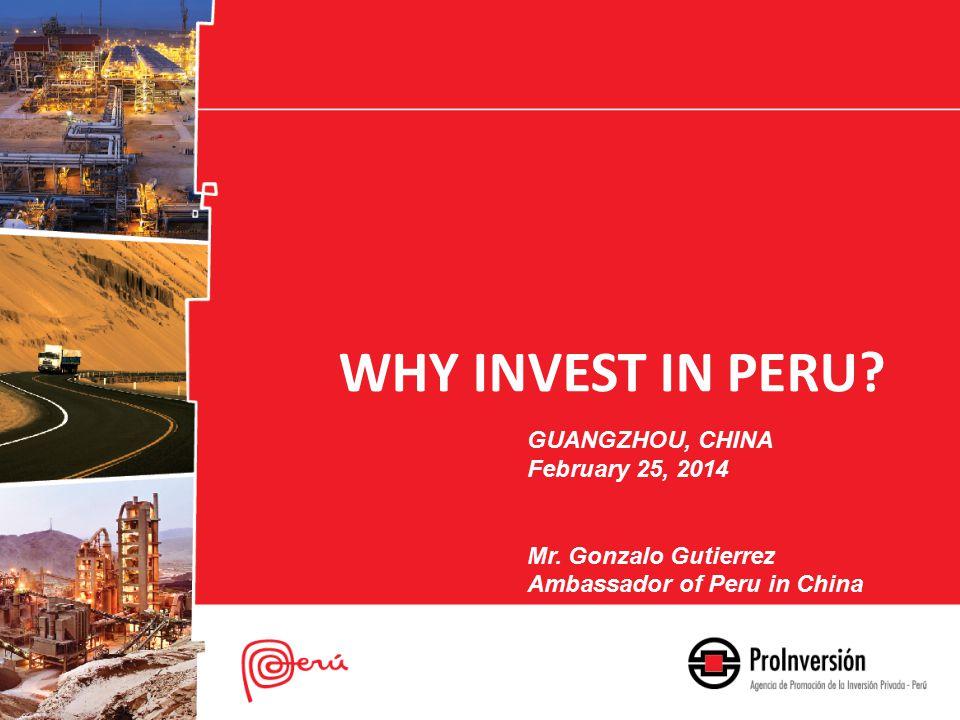 WHY INVEST IN PERU. GUANGZHOU, CHINA February 25, 2014 Mr.