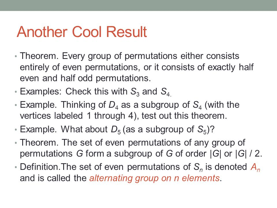 Another Cool Result Theorem.