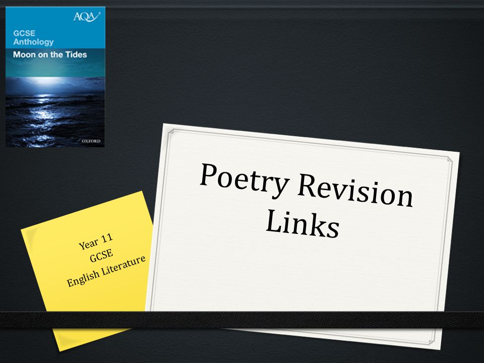 Poetry Revision Links Year 11 GCSE English Literature