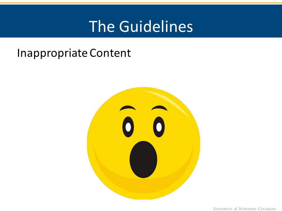 The Guidelines Inappropriate Content
