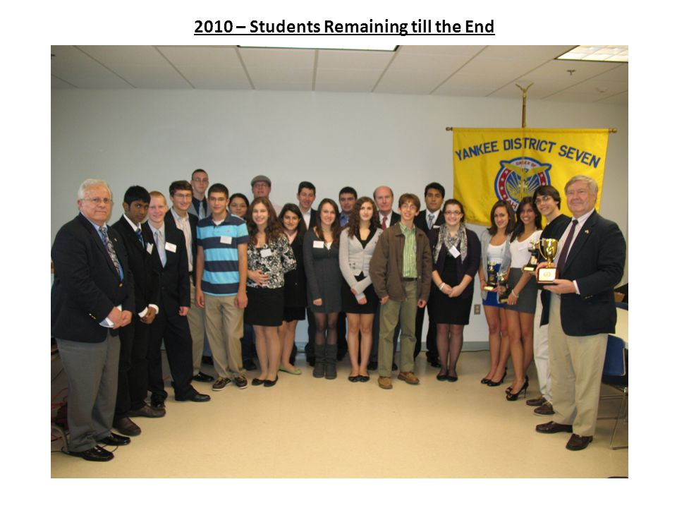 2010 – Students Remaining till the End