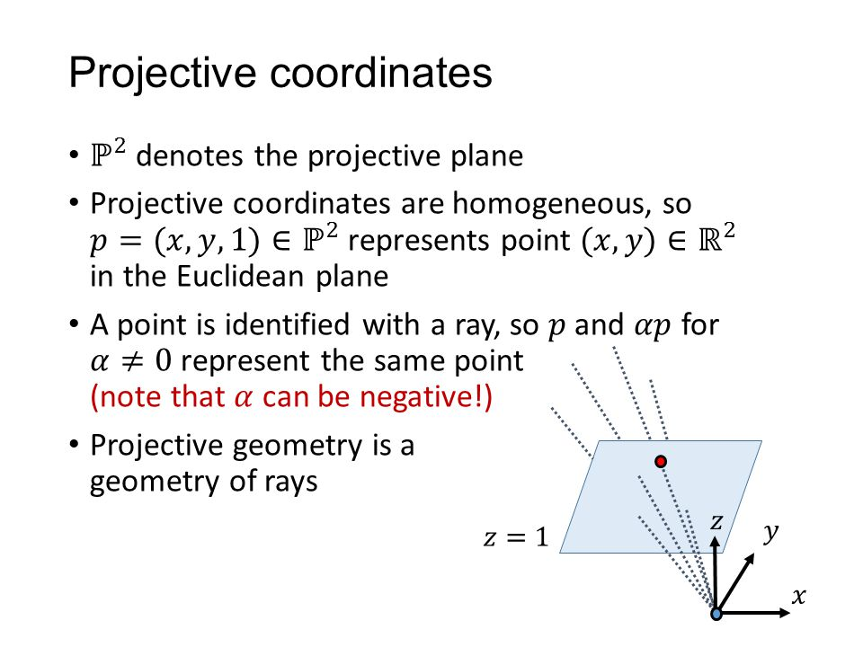 Projective coordinates