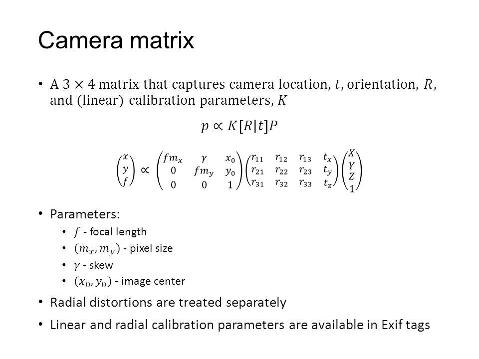 Camera matrix