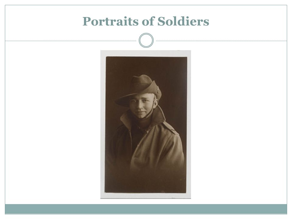 Portraits of Soldiers