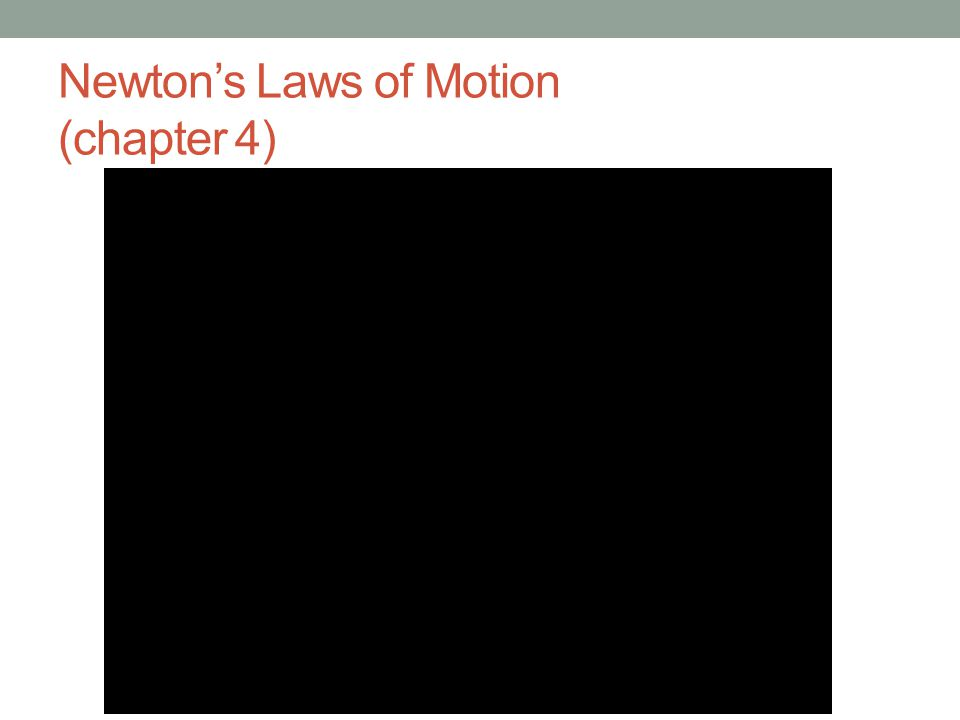 Newton's Laws of Motion (chapter 4)