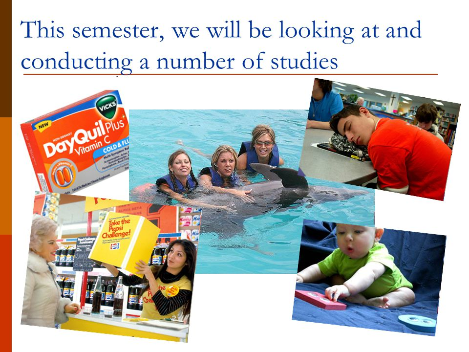 This semester, we will be looking at and conducting a number of studies