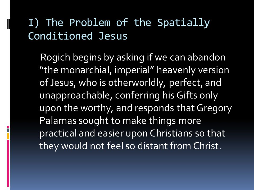 Gregory's approach, by contrast, transpos[es]...the trinitarian doctrine onto on anthropological plane, whereby the mystic's entrance into Jesus through the 'deified flesh' becomes [an entrance] into the very personal presence of the Father in the Spirit.