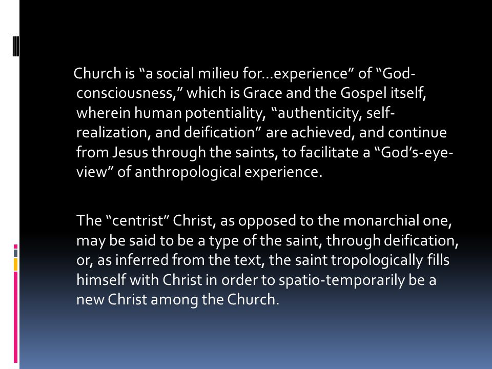 Gregory's spiritual christology should [likewise] never be considered...as 'Neo- Platonist,' since his thought...marked a step forward in the progressive liberation of eastern christian theology from Platonic Hellenism[.]