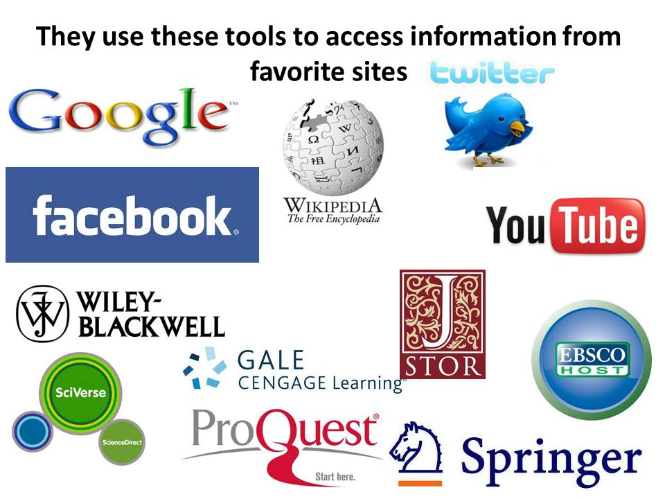 They use these tools to access information from favorite sites