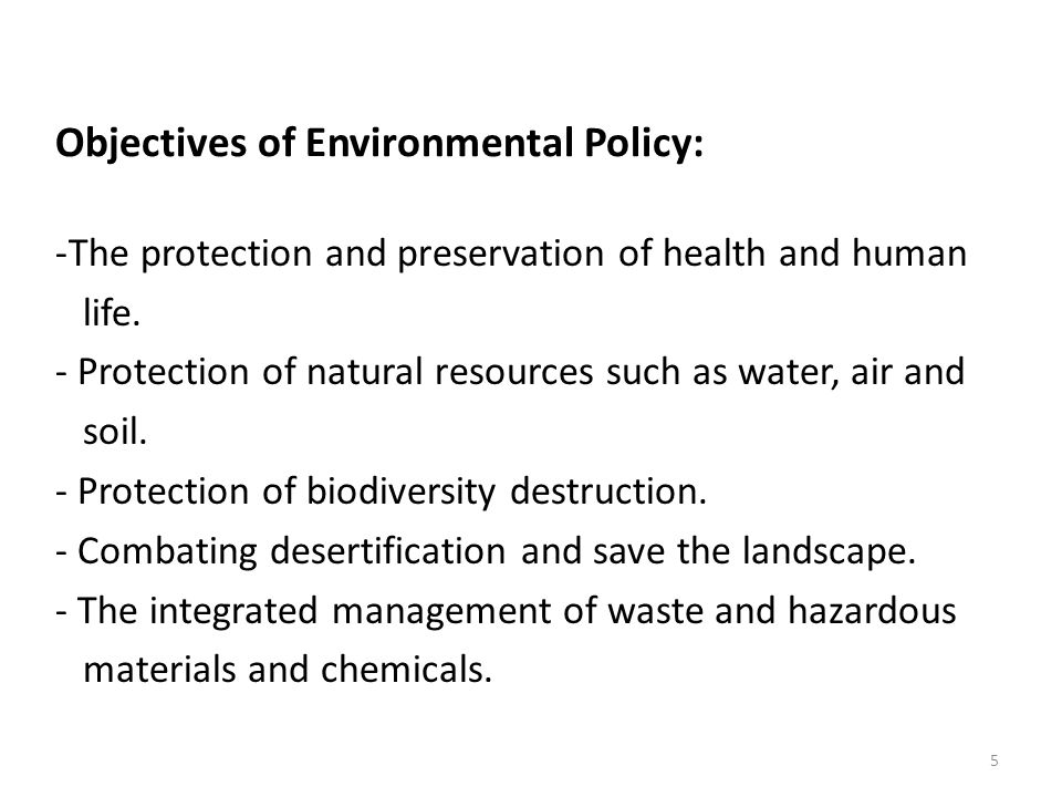Environmental Regulations: Regulation is controlling human or societal behavior by governmental or self rules or restrictions.