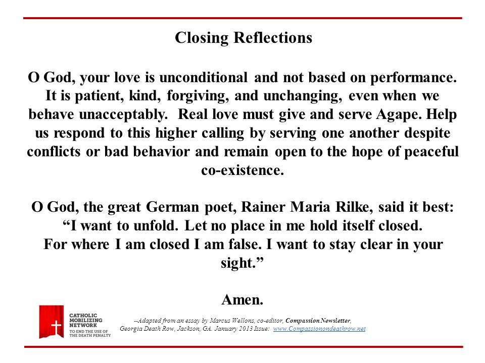 O God, your love is unconditional and not based on performance.
