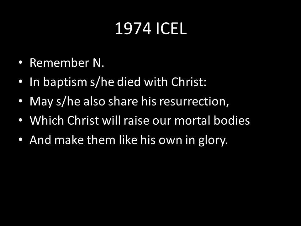 1974 ICEL Remember N.