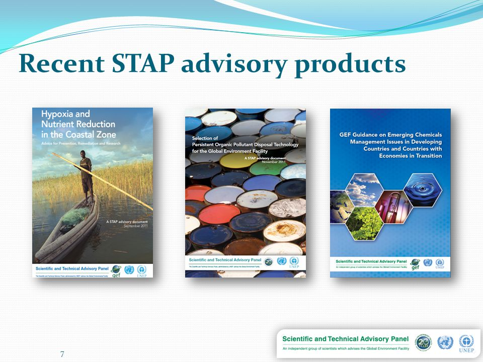 Recent STAP advisory products 7
