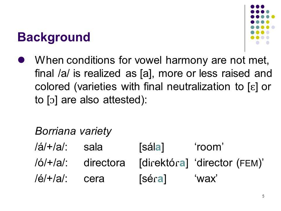 65 III.3.The harmonic stage: Borriana 2.
