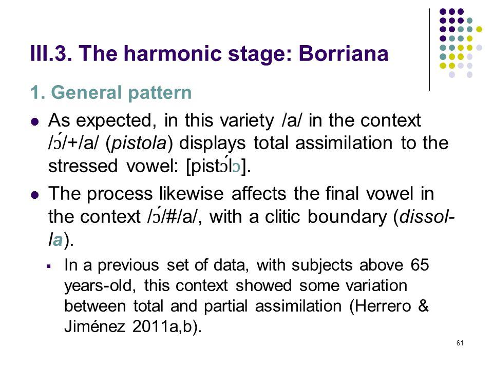 60 III.2. The preharmonic stage: Nules