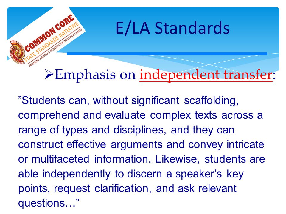 Need to Unpack Standards Distinguish goal types: A, M, T Determine appropriate assessments