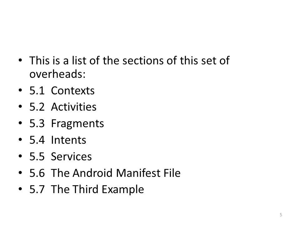 5.1 Contexts 6